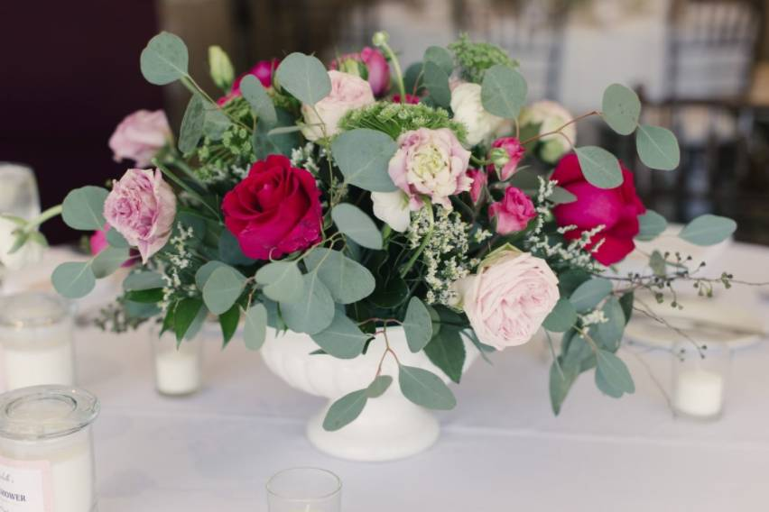 Pretty pink and green florals
