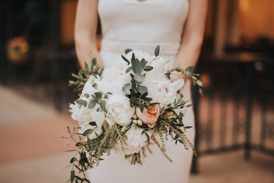 White Romantic Florals
