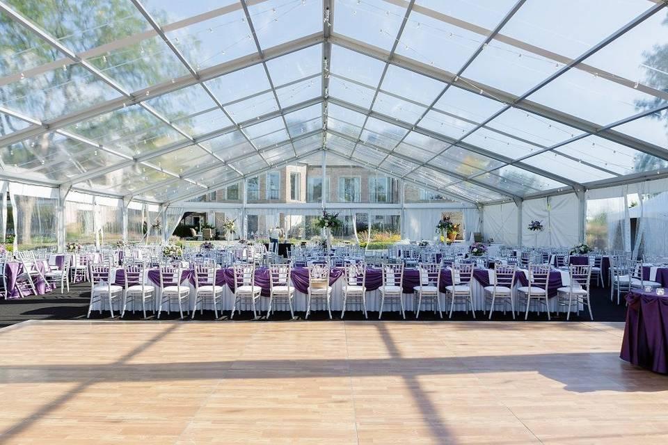 Stunning clear top wedding