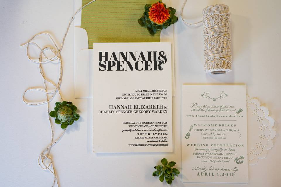 Hannah + Spencer Wedding Suite