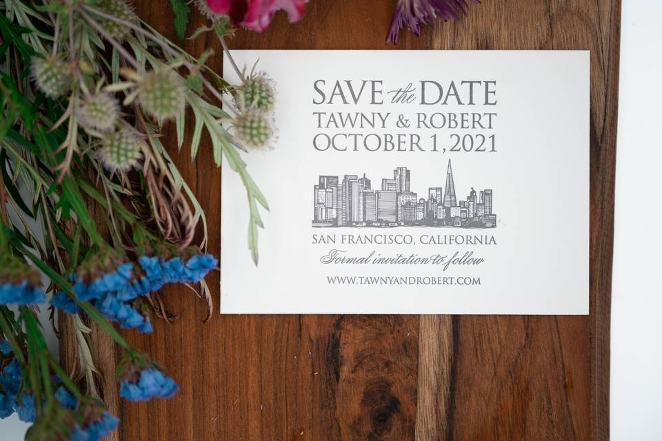 Tawny + Robert Save the Date