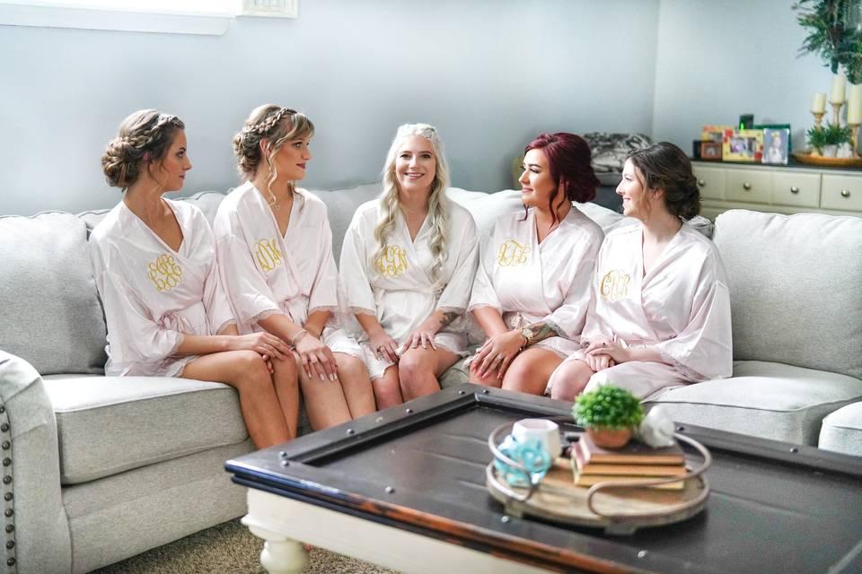 Bridesmaids before