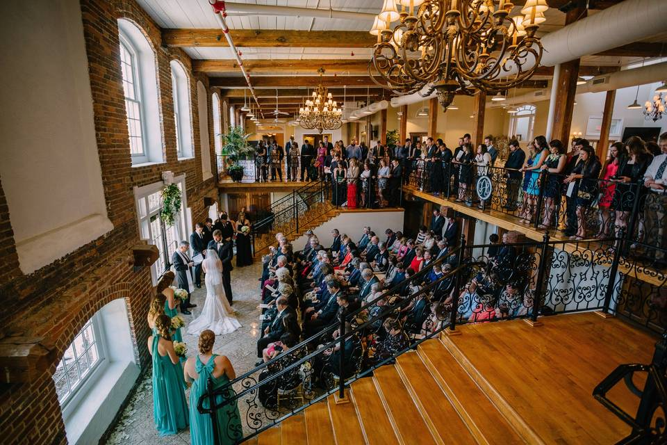 Downstairs ceremony