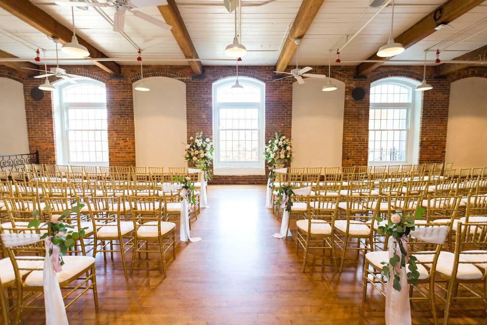 Intimate Indoor Ceremony