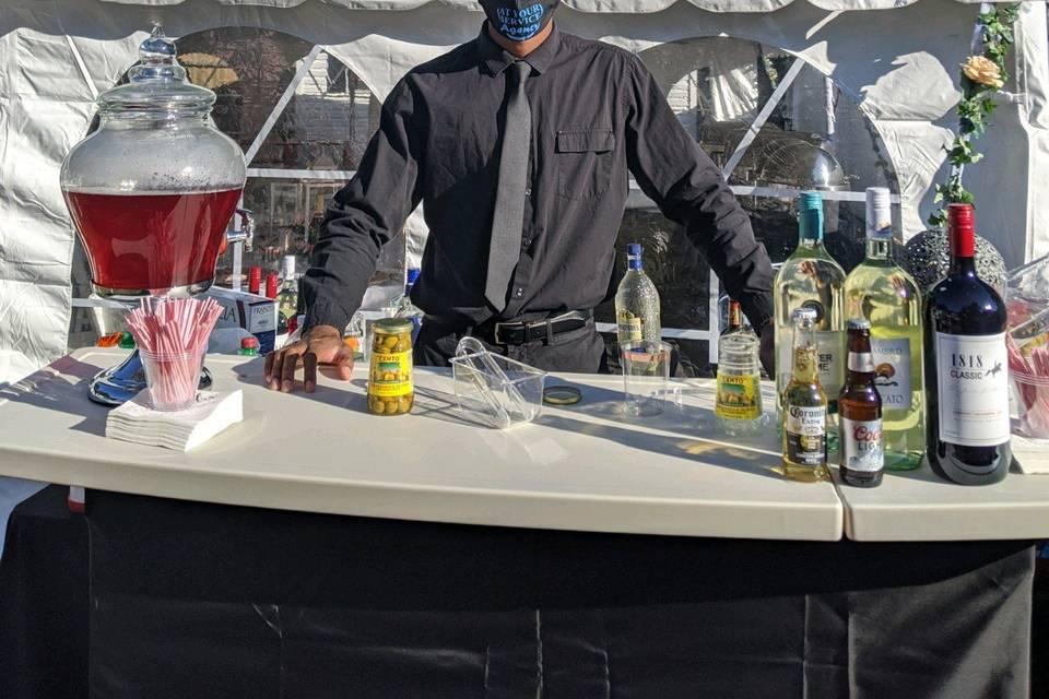 Outdoor bartending