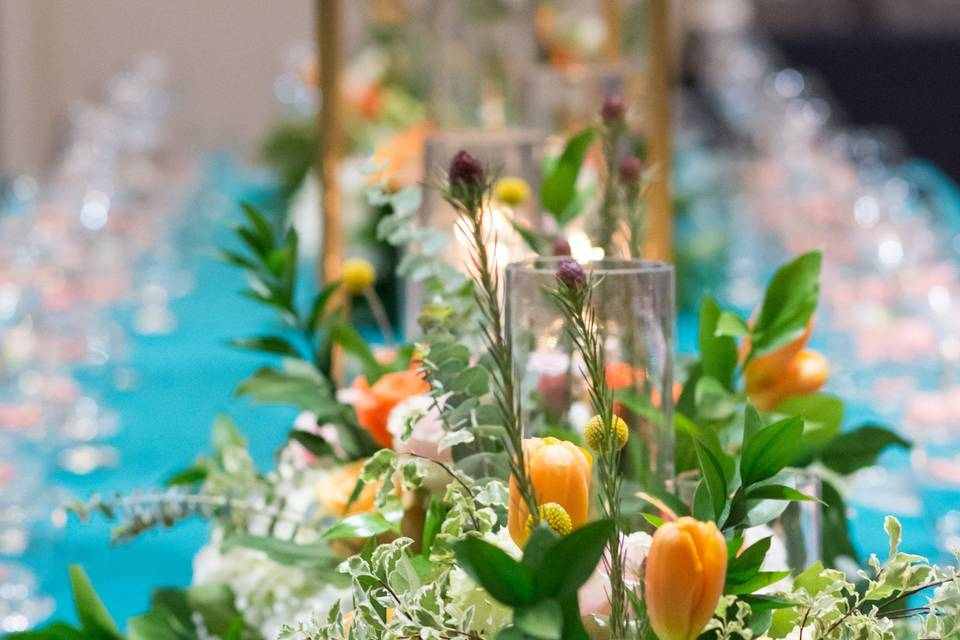 Spring inspired centerpieces