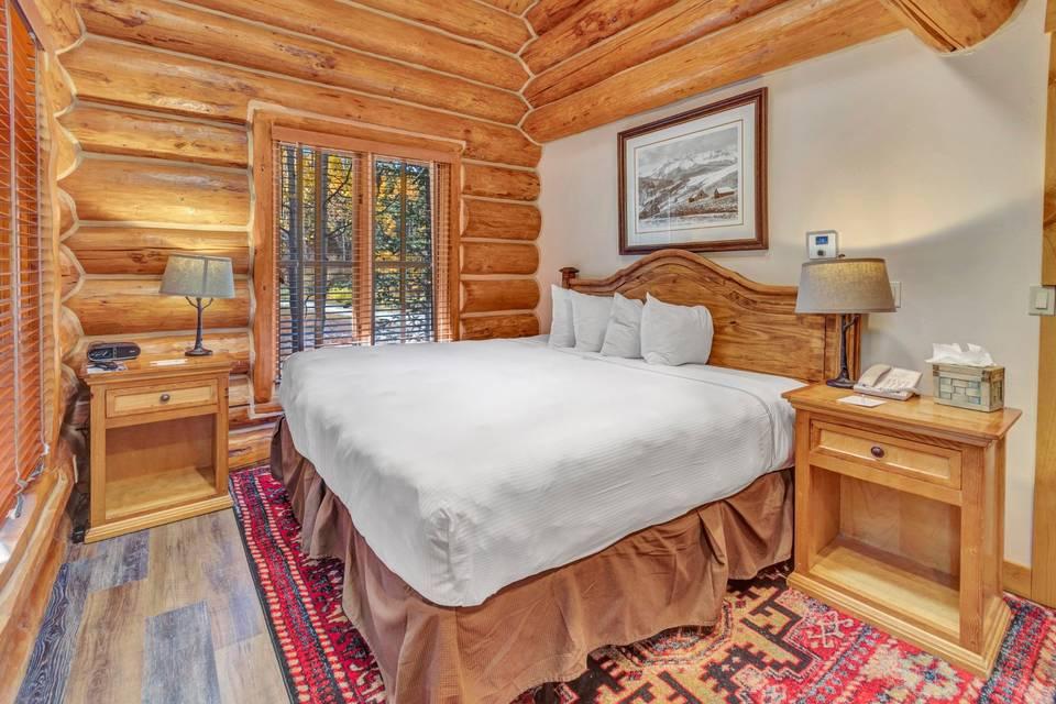 Log cabin guest room
