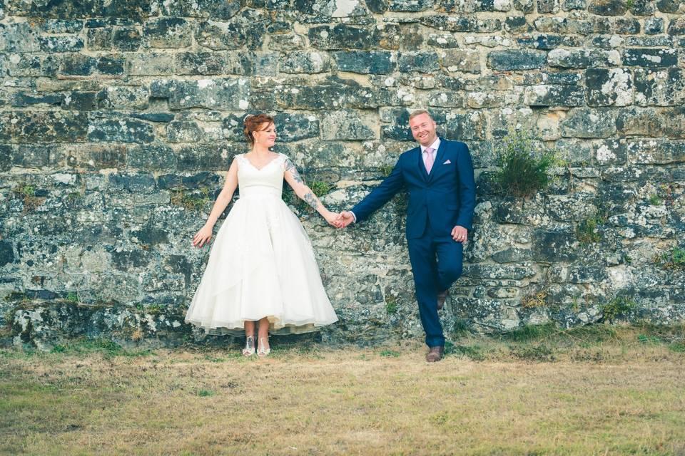 Bride & groom wall