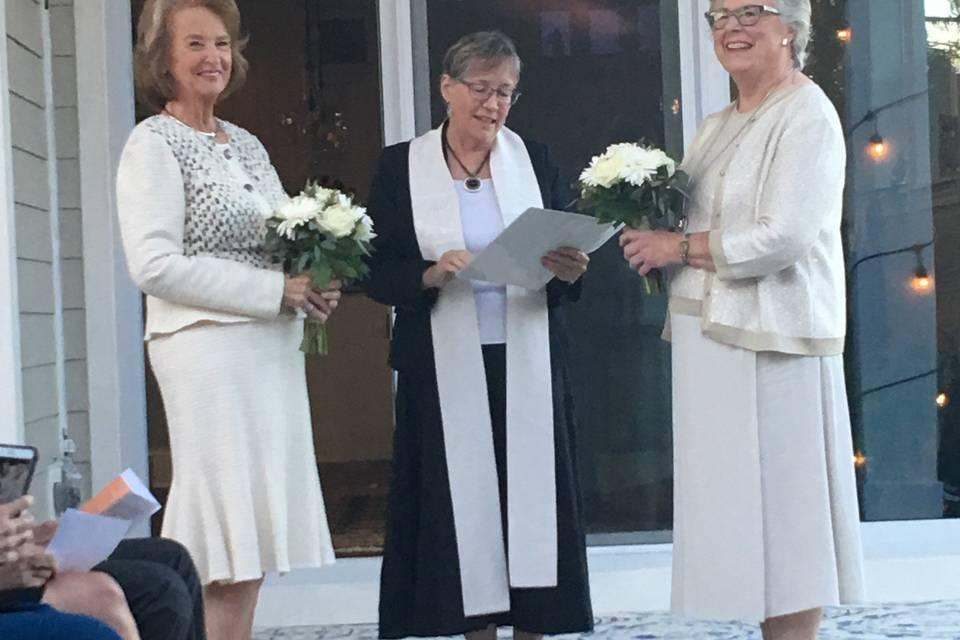 Leading the ceremony