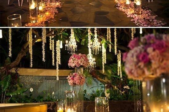 Sunset wedding decorations