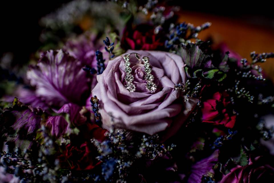 Purple florals - Kaylyn Ivy Photography