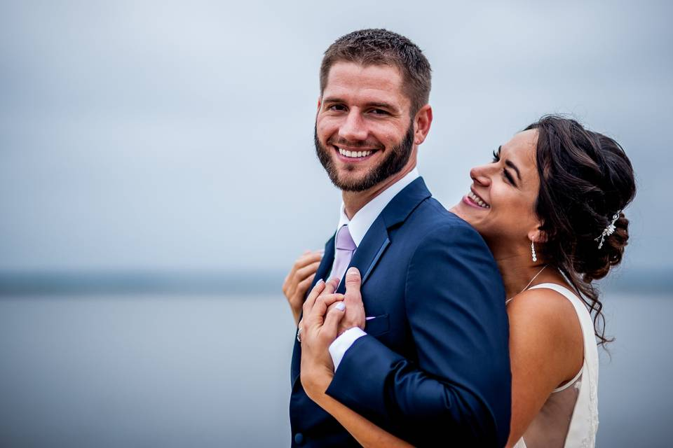 Newlyweds embrace - Kaylyn Ivy Photography