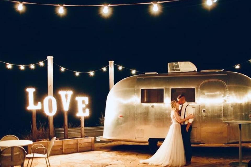 Airstream wedding suite