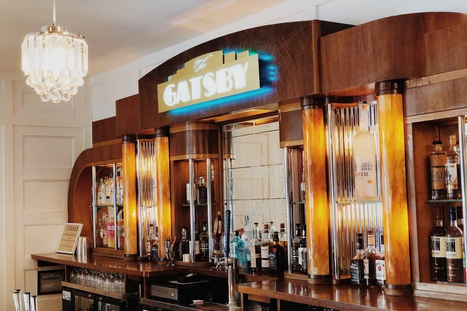 Antique Gatsby bar