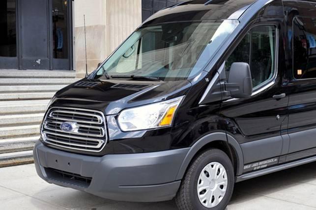 Black passenger van