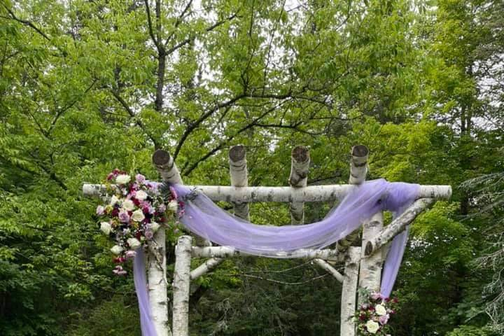Lavender themed arbor