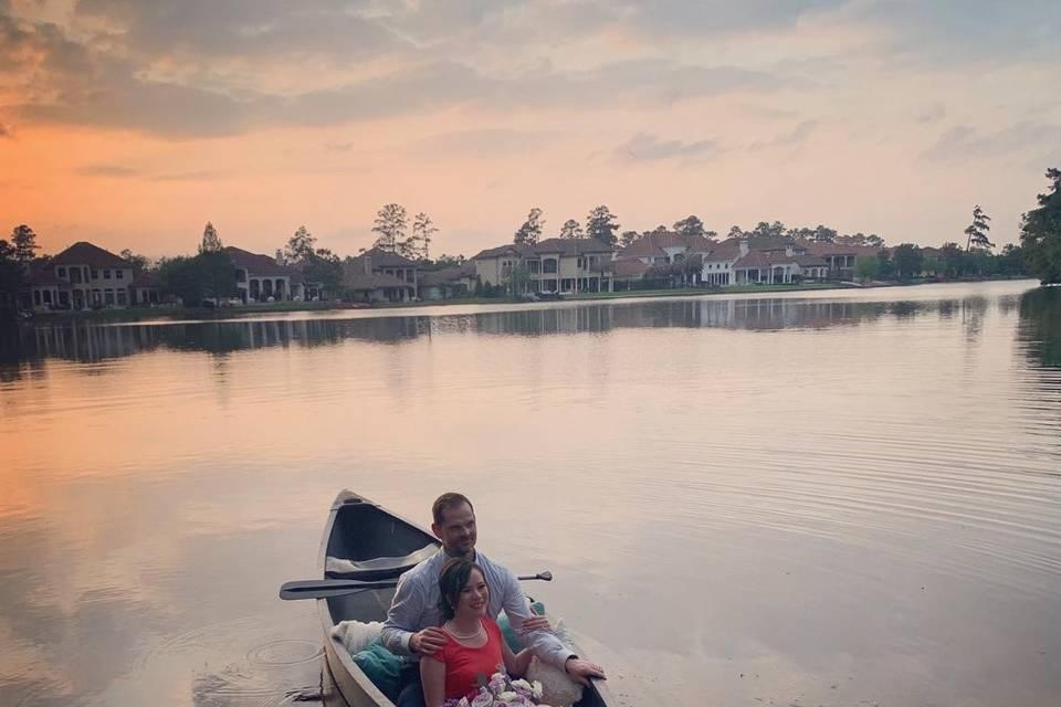 Save the date canoe photo
