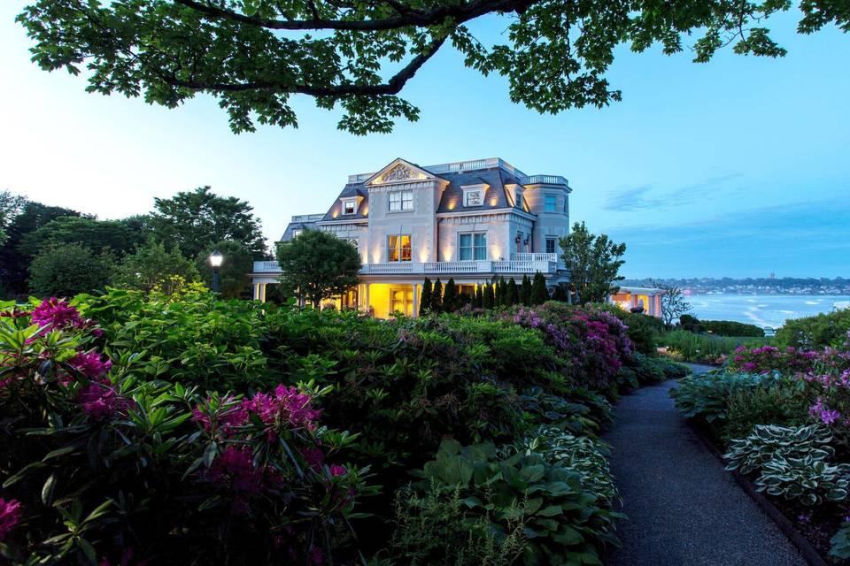 Mansion at dusk