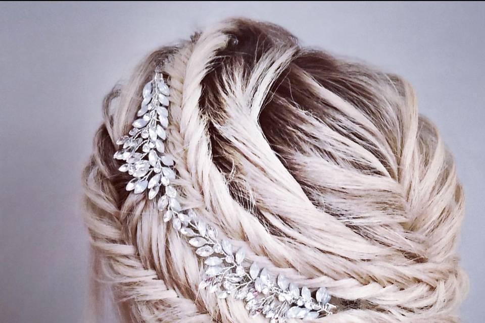 Fishtail bridal updo