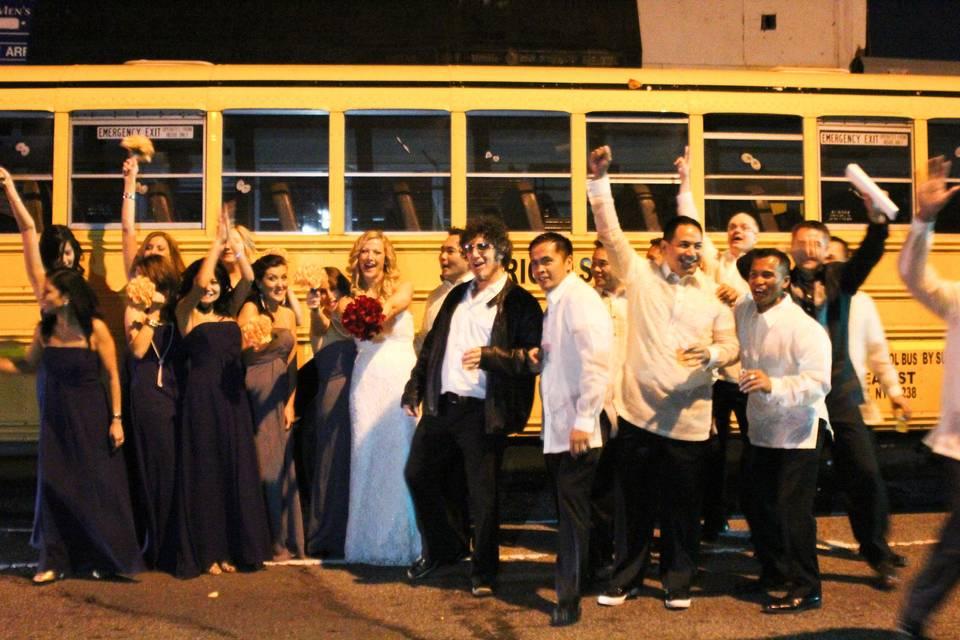 Jubilant Bridal Party