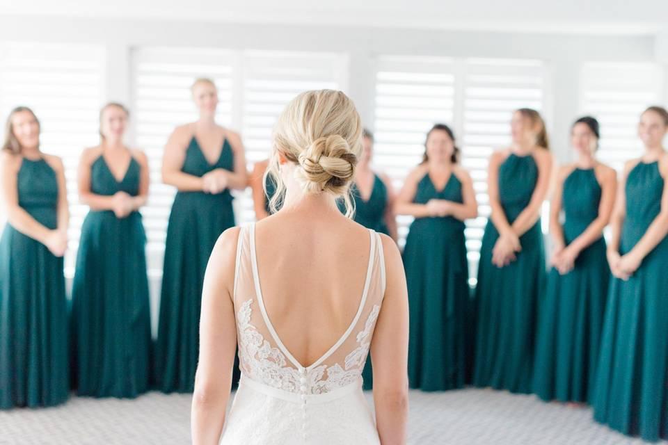 Bride's reveal