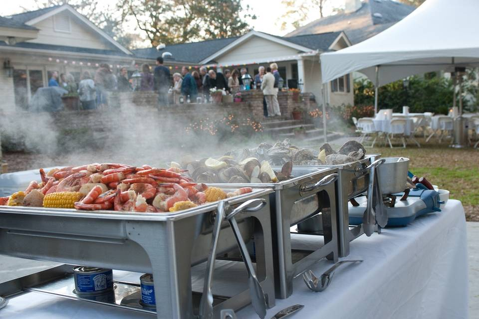 Lowcountry boil catering