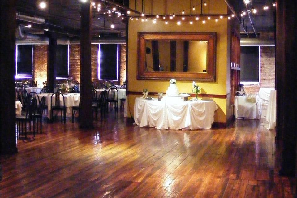 Cafe Lighting over dance area