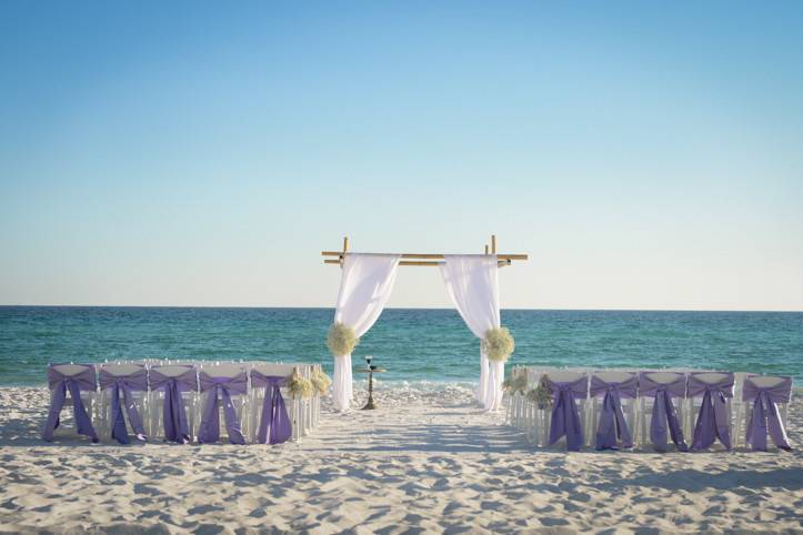 Ceremony on the white sands