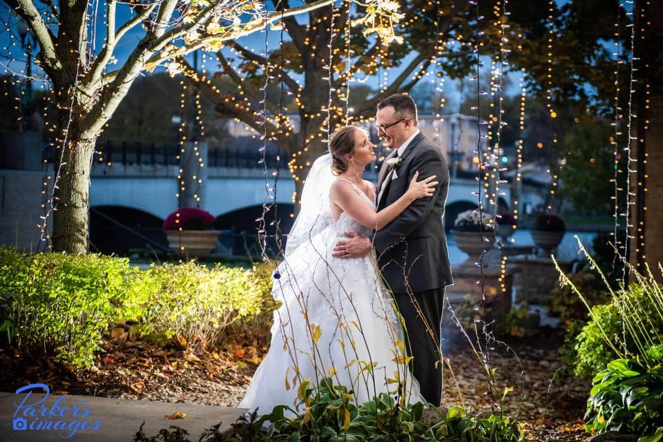 Love under fairy lights