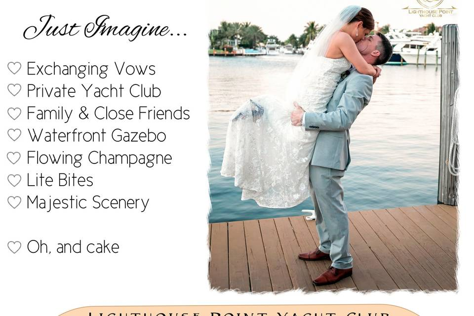 Intimate Weddings at LHPYC