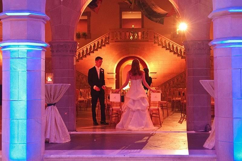 Couple in uplighting