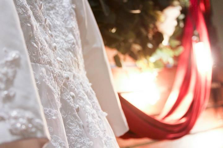 Wedding dress details - CQ Photography