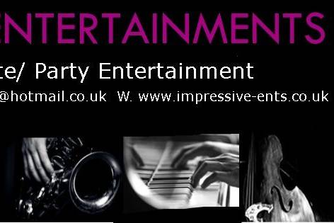 IMPRESSIVE ENTERTAINMENTS Singer/ Acoustic Duo/ Jazz Band/ Party Band/ DJ's and more