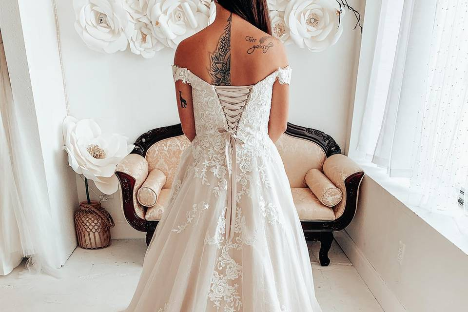 Back of gown