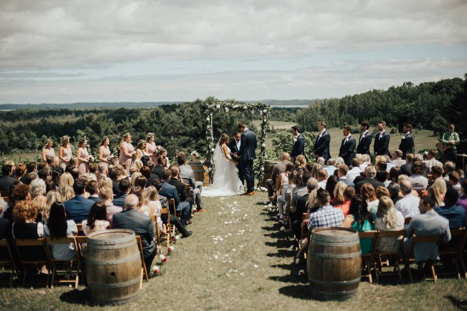 A country ceremony