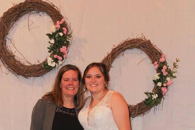 Morgan and I on her wedding da