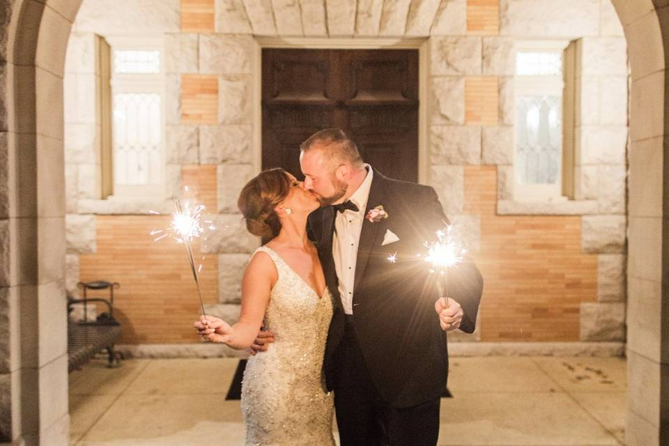 Kisses and sparklers