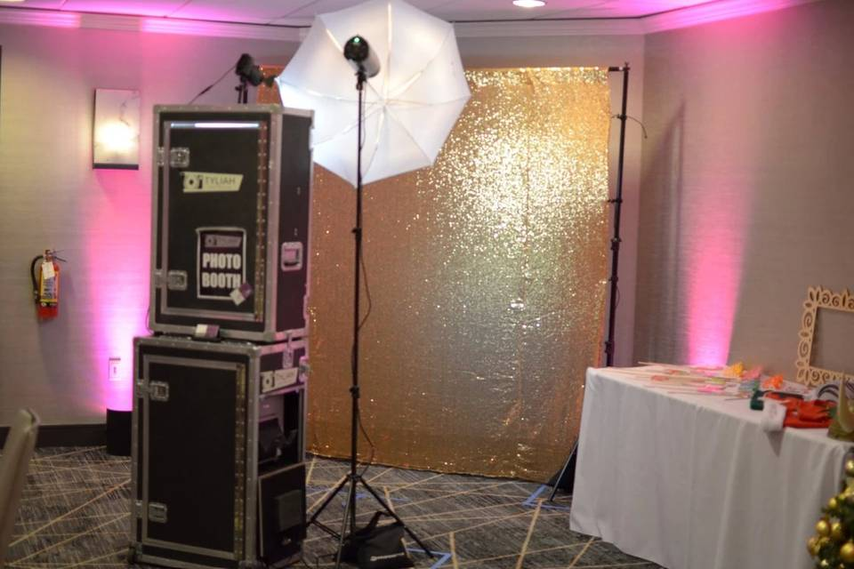 Backdrops and props