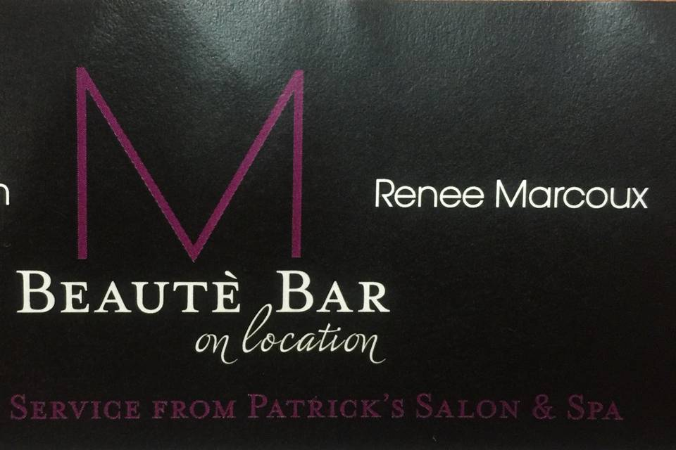 M Beaute Bar on Location
