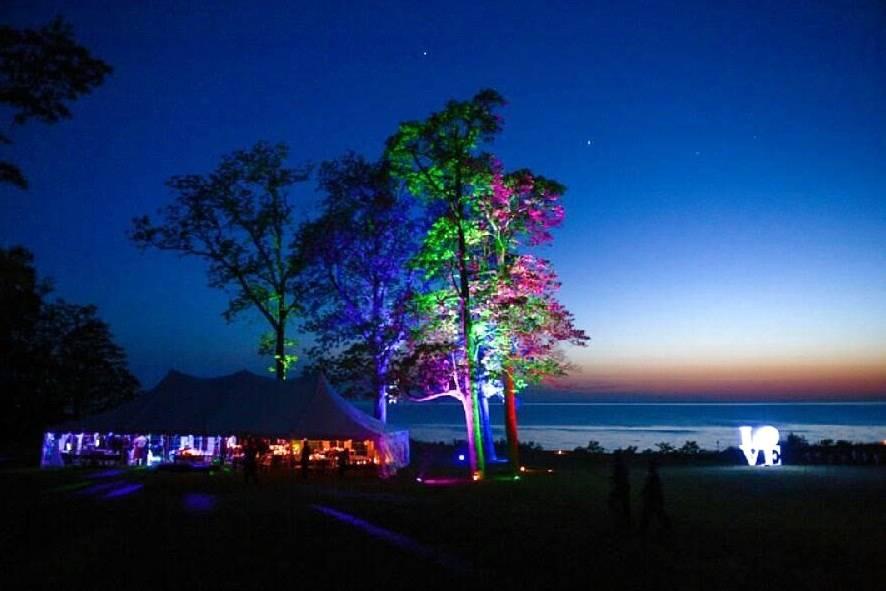 Lake Michigan tent party