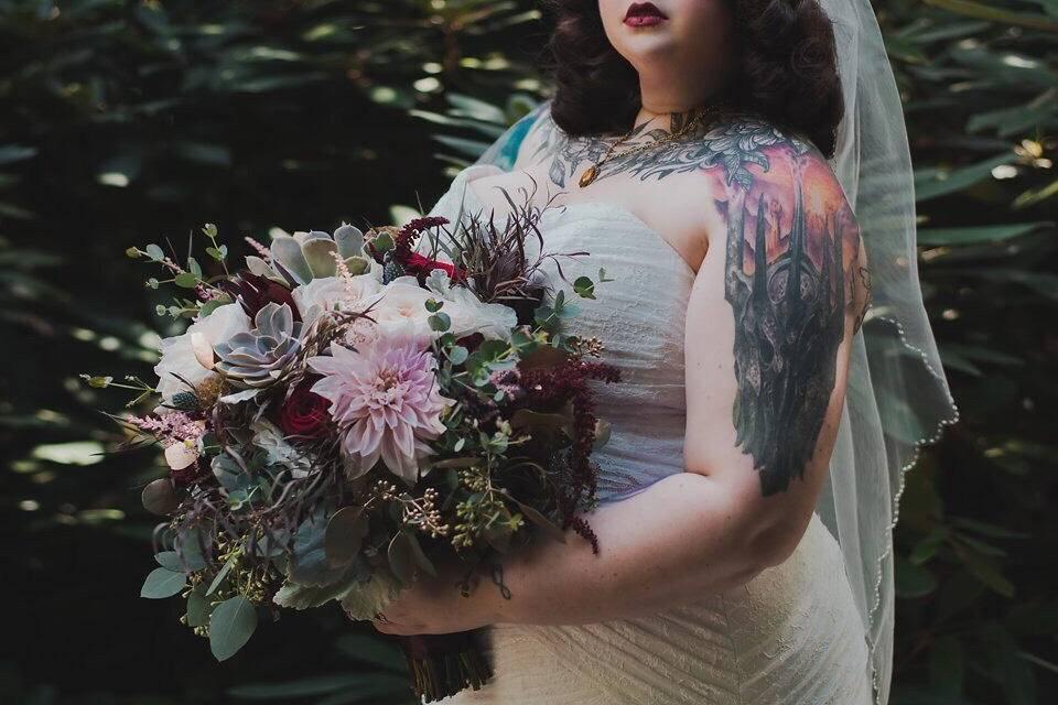 Beautiful textural bouquet