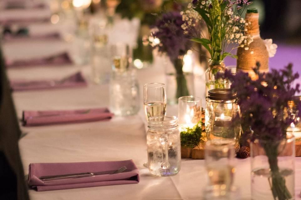Reception Dinner Table