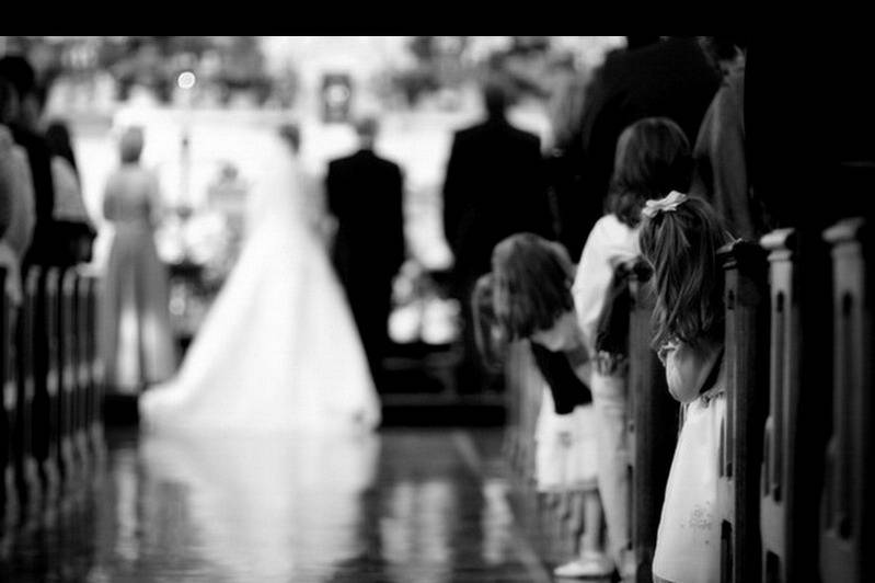A peek at the bride