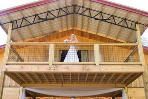 Bridal suite above reception area below