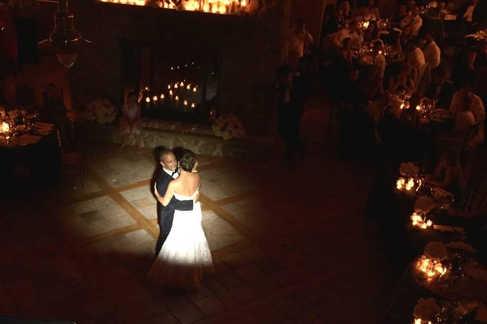 First dance in spotlight