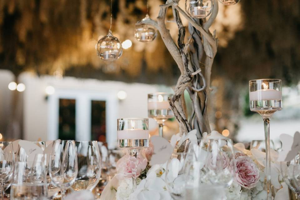 Orchid tree centerpieces