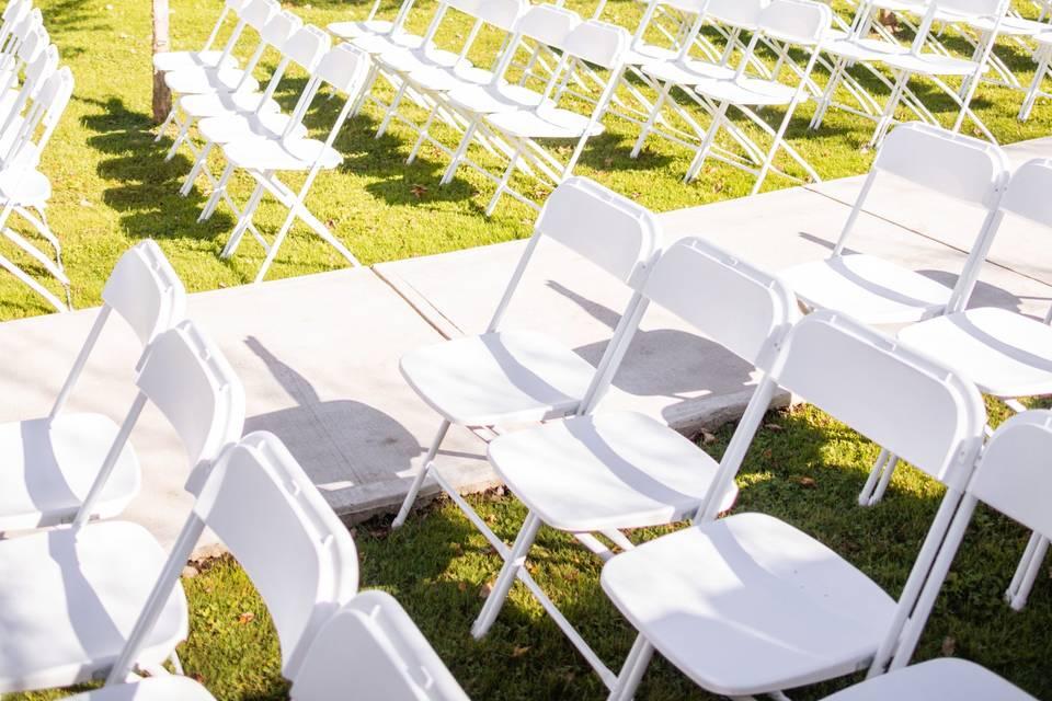 Outdoor ceremony lawn