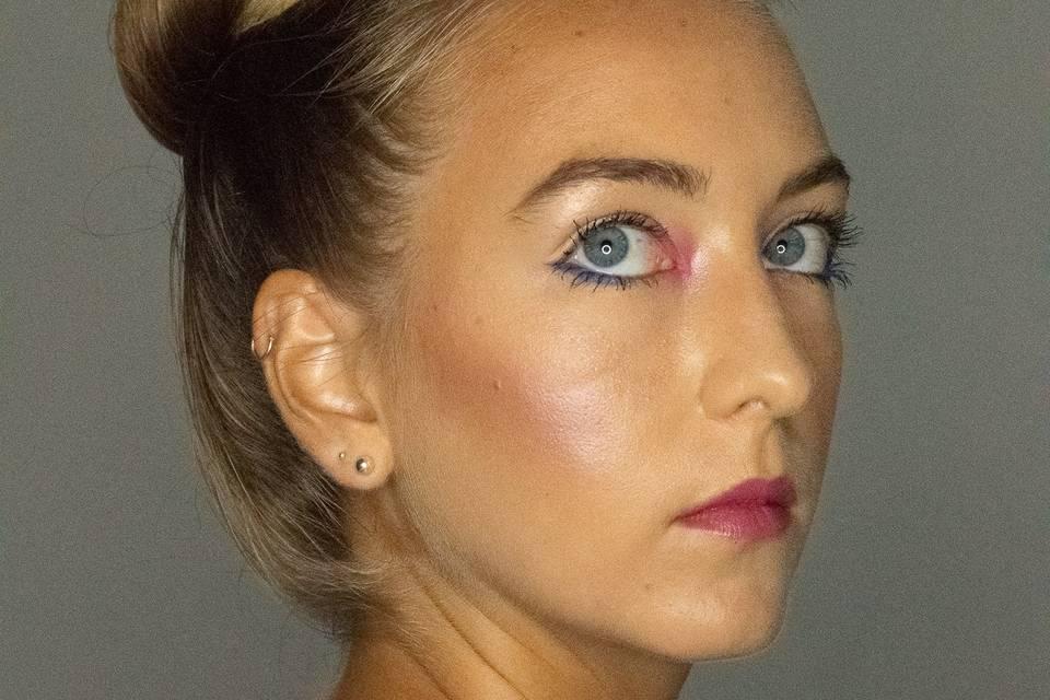 Side profile makeup