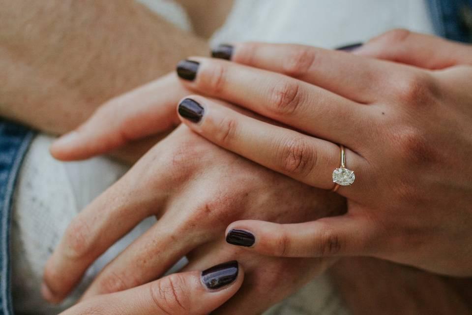 Hannah and Duke engagement