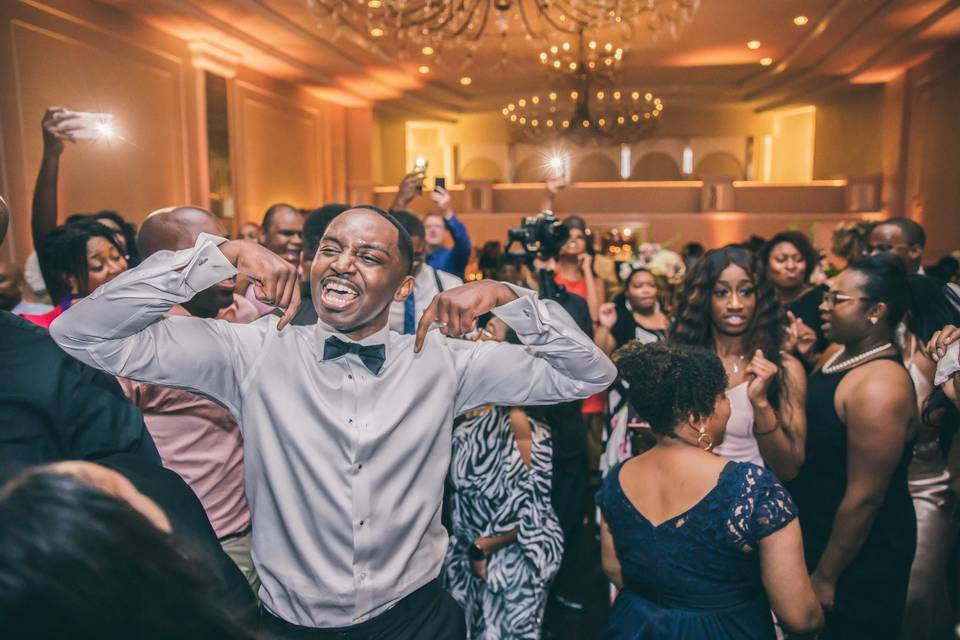 When the Groom hears his song